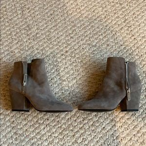 1.State Grey Suede Booties
